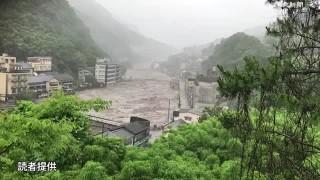 天ヶ瀬温泉で玖珠川が氾濫…大分・日田