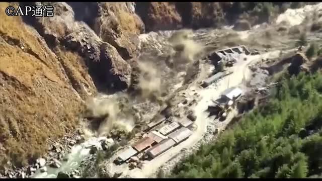 崩壊 インド 氷河